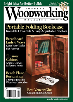 Popular Woodworking Magazine October 14 Cover