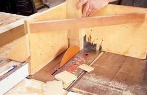 Glen's tenon jig in action for mortise and tenon furniture.
