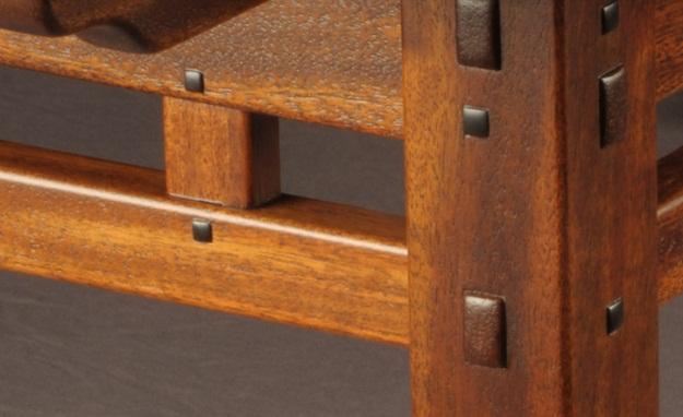 Tweaking greene greene darrell peart 39 s rafter tail table for Greene and greene inspired furniture