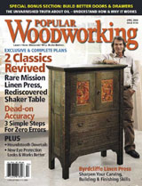April 2006 Issue Popular Woodworking