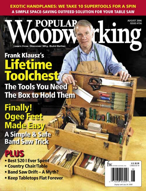 Popular Woodworking August 2006 issue