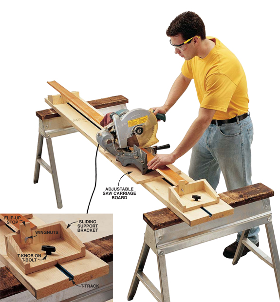 Small Shop Tip Portable Miter Saw Station