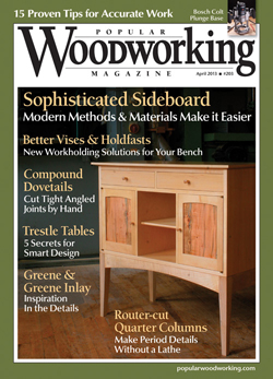 Popular Woodworking Magazine April 13 Cover