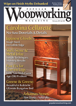 Popular Woodworking Magazine February 13 Cover