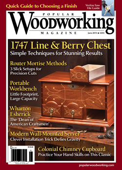Popular Woodworking Magazine June 13 Cover