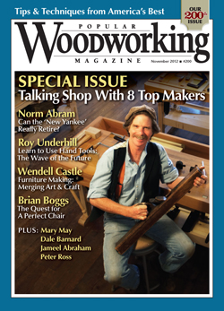 Popular Woodworking Magazine November 2012 Cover
