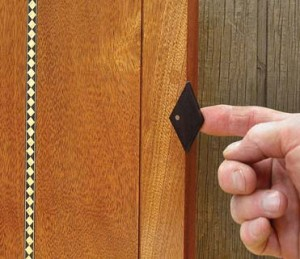 Inlaid. The handle becomes a seamless part of a door or drawer if inlaid.