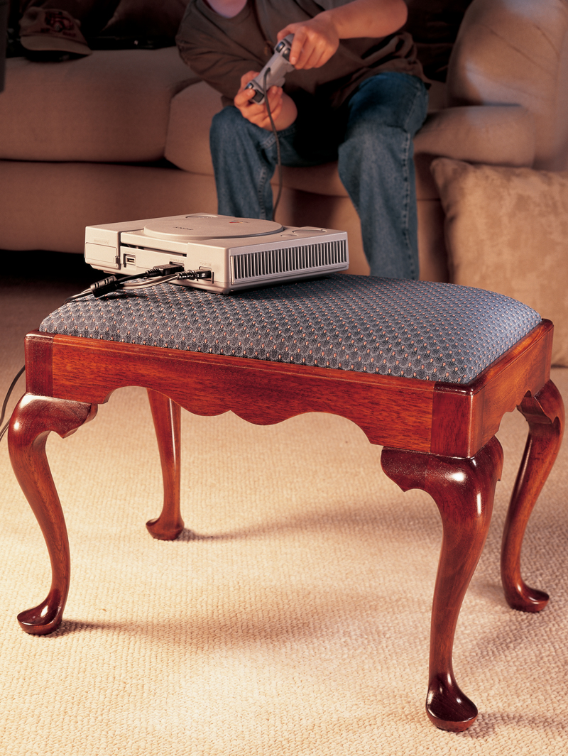 Queen Anne Footstool & Cabriole Leg - Popular Woodworking Magazine
