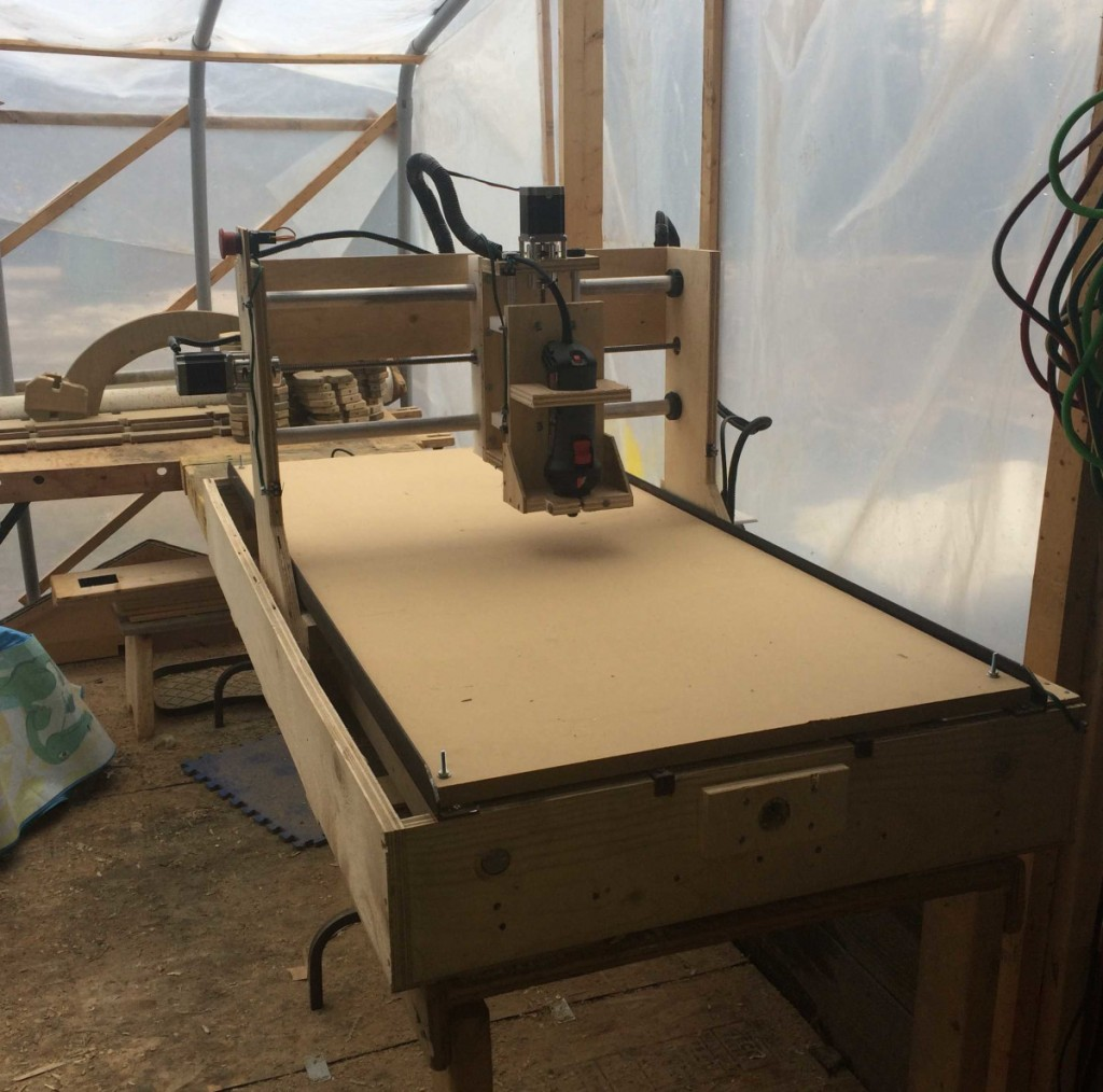 One student in Build a CNC Router made the moving-gantry version of the machine.
