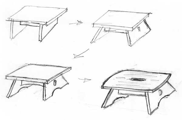 designing by foot hand eye