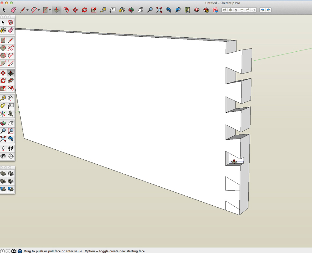Dovetails in SketchUp