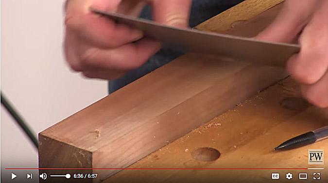 sharpen a scraper
