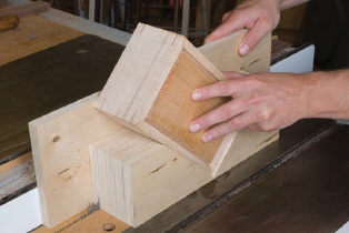 This shop-made table saw jig makes quick work of reinforcing miter ...