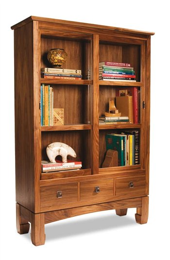 Sliding Door Bookcase - Popular Woodworking Magazine