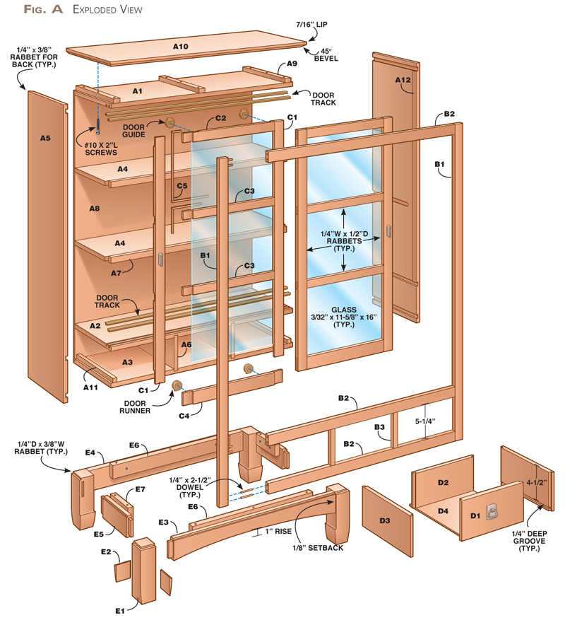 sliding bookshelf door plans