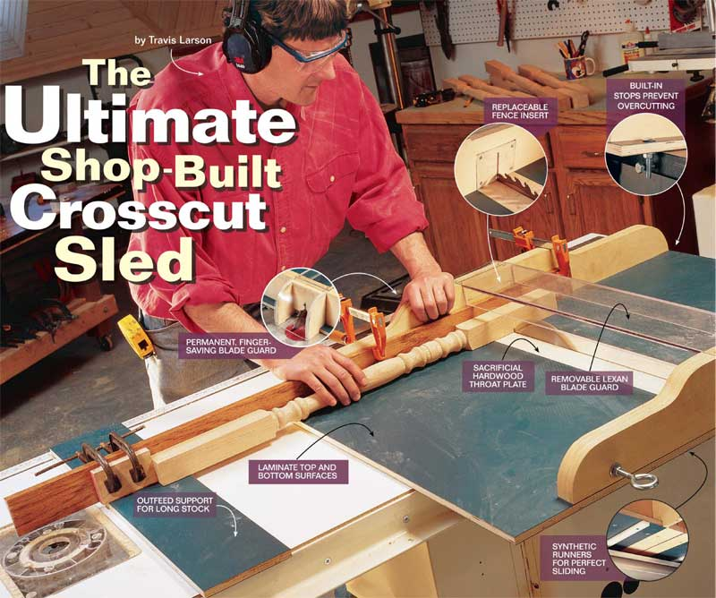 How To Build A Crosscut Sled Free Diy Crosscut Sled Project