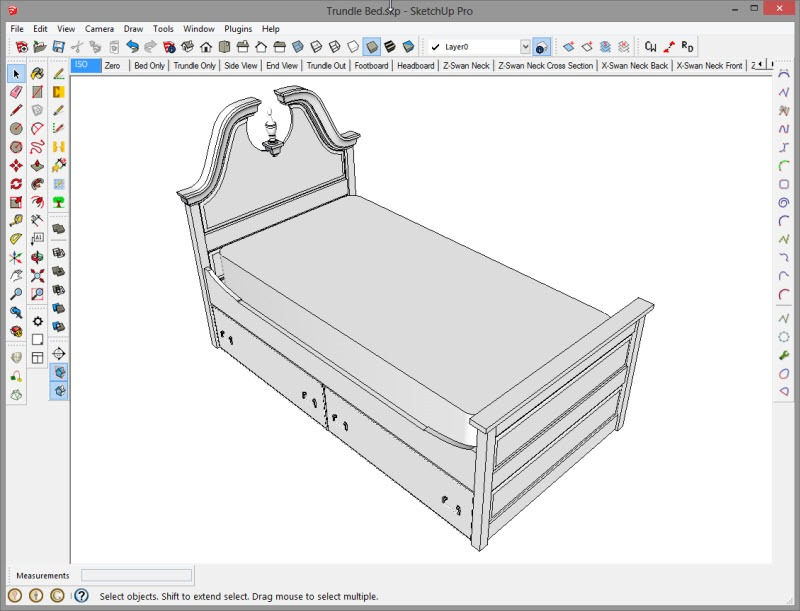 Trundle Bed Project In SketchUp Popular Woodworking Magazine Classy Sketchup Furniture Design