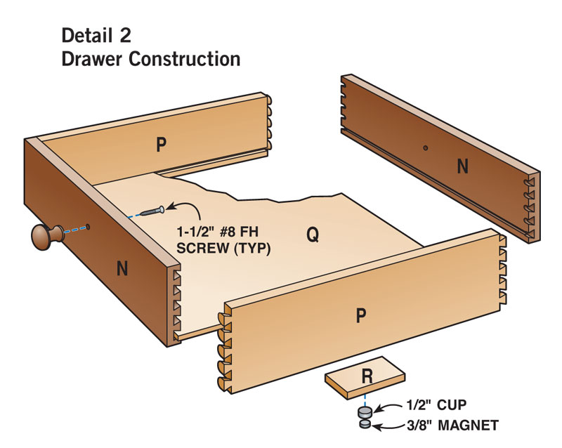 Two-Drawer Coffee Table - Popular Woodworking Magazine