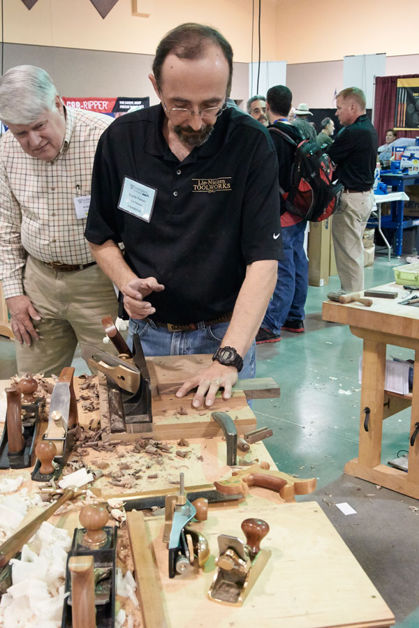 Lie-Nielsen Toolworks' Curtis Turner and the LN No. 51.