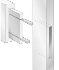 Wedged mortise-and-tenon joint