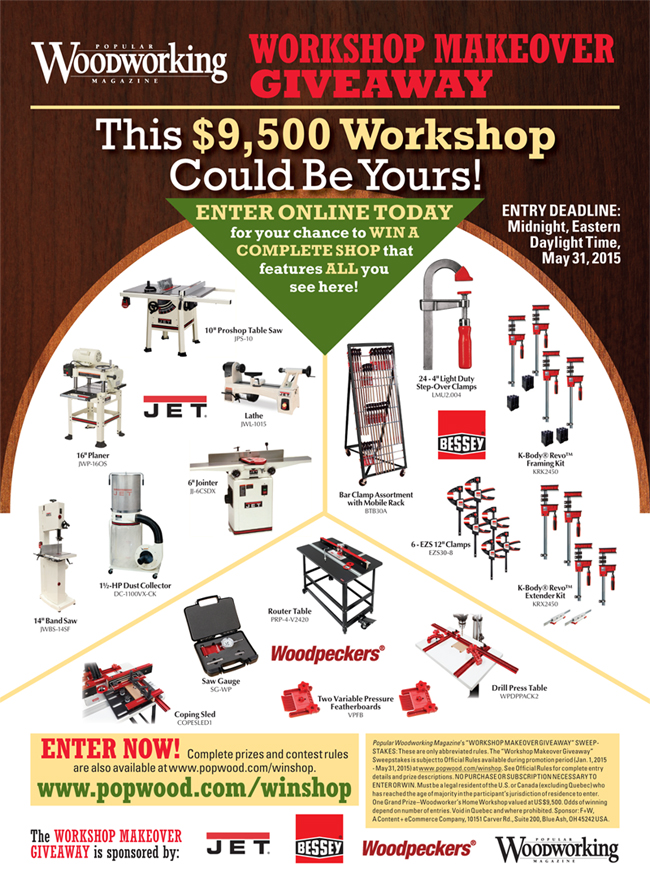 2016 Popular Woodworking Workshop Makeover Giveaway - Popular Woodworking Magazine