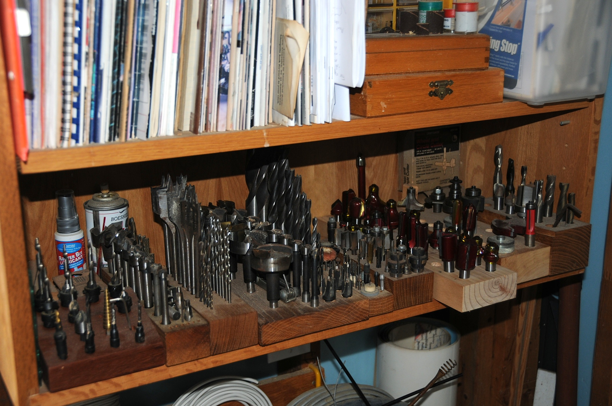 few weeks back I posted about router bit storage . At the end of the ...