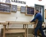 Bill Rainford jointing a board