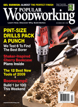 December 2009 Issue Popular Woodworking