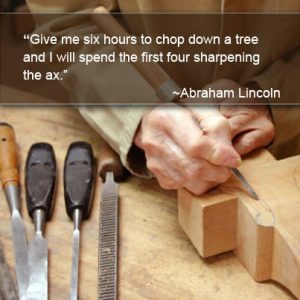 Honest Abe needed sharpening supplies, too.