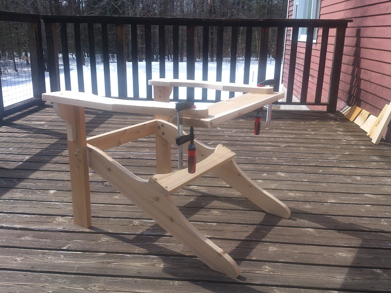 Scale drawings and models can come in handy in mid-project. With snow on the ground, there's still plenty of time for my Adirondack chair!