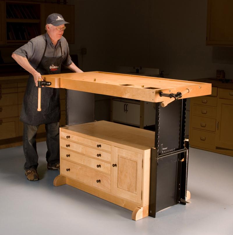 AW Extra - Adjustable Workbench - Popular Woodworking Magazine