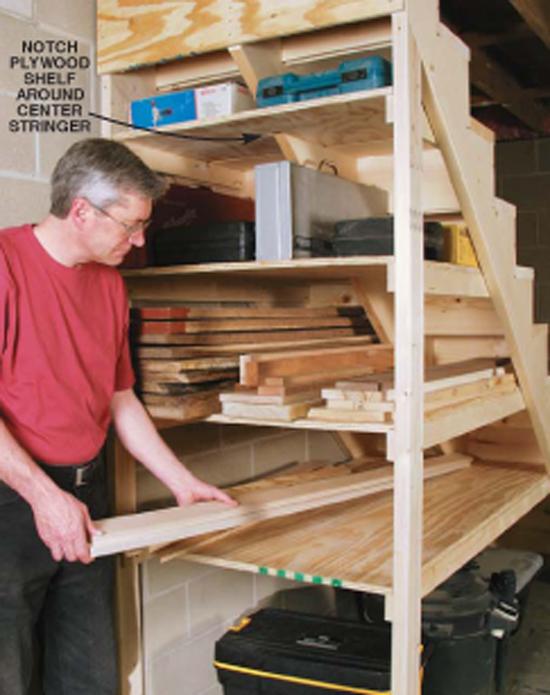 Behind the Stairs Storage - Popular Woodworking Magazine