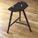 black stool rear IMG 7803 150x150 3 legged Stool Design: Sixth Time is a Charm