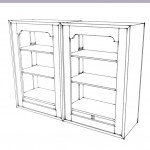 Three-bay bookcase/Media center