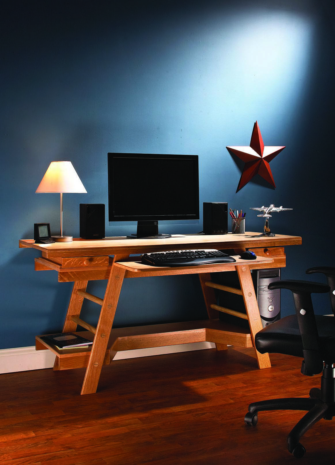 how to build a desk a free ebook popular woodworking. Black Bedroom Furniture Sets. Home Design Ideas