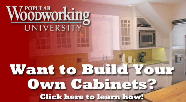 Learn about building kitchen cabinets.
