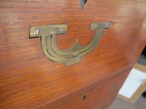 chest hardware IMG 2204 300x225 More Campaign Furniture Pieces to Explore