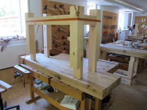 cs bench sat IMG 2545 300x225 My Assembly Tricks for Old World Workbenches