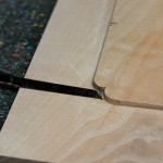 cutting corner of raised pannel.