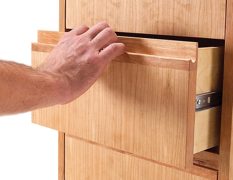 Aw extra 7 12 12 router made drawer and door pulls for Wooden cabinet knobs