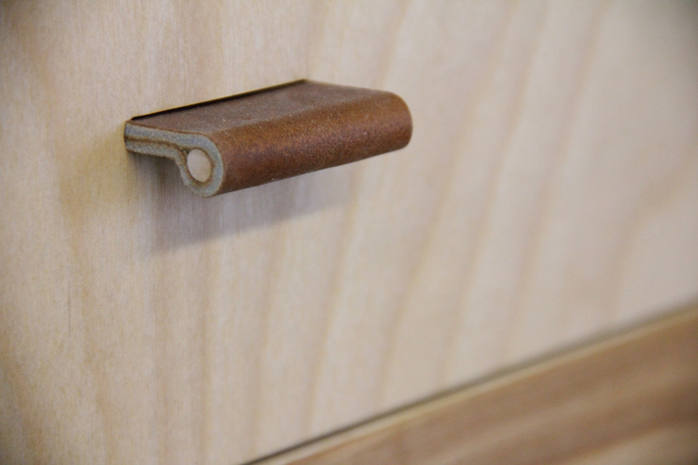 Shop-made Leather Drawer Pulls - Popular Woodworking Magazine