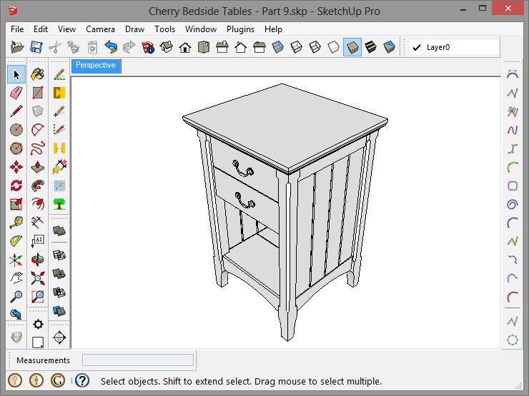 Completed Cherry Bedside Table Model This is the last installment of Designing  Furniture From Scratch In SketchUp. Designing Furniture From Scratch In SketchUp Part 9   Popular