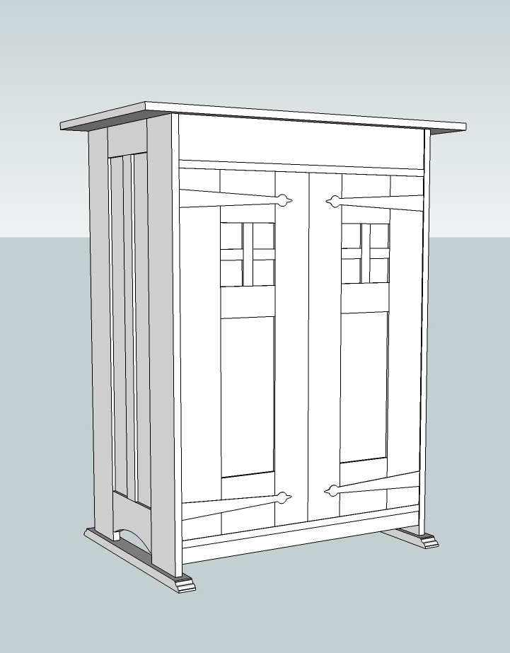 Proportion problems solved with sketchup popular woodworking magazine - Fabriquer caisson armoire ...