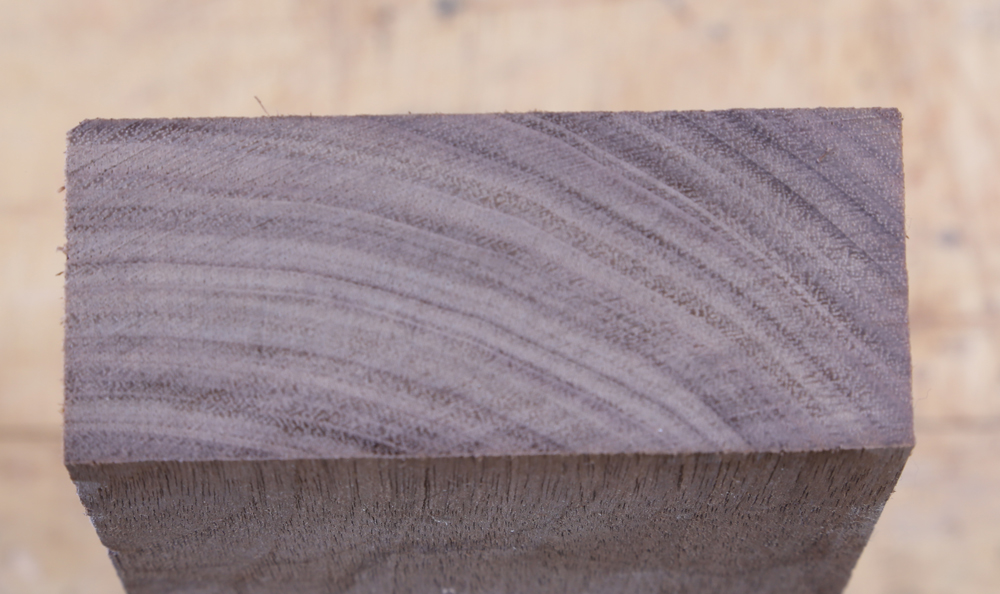 Close-up view of walnut showing clarity of the surface left by the cut.