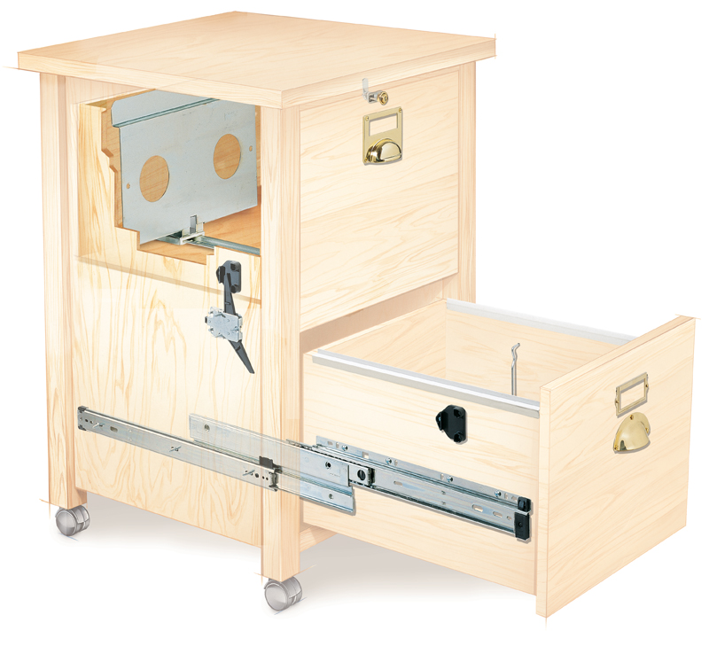 File cabinet hardware