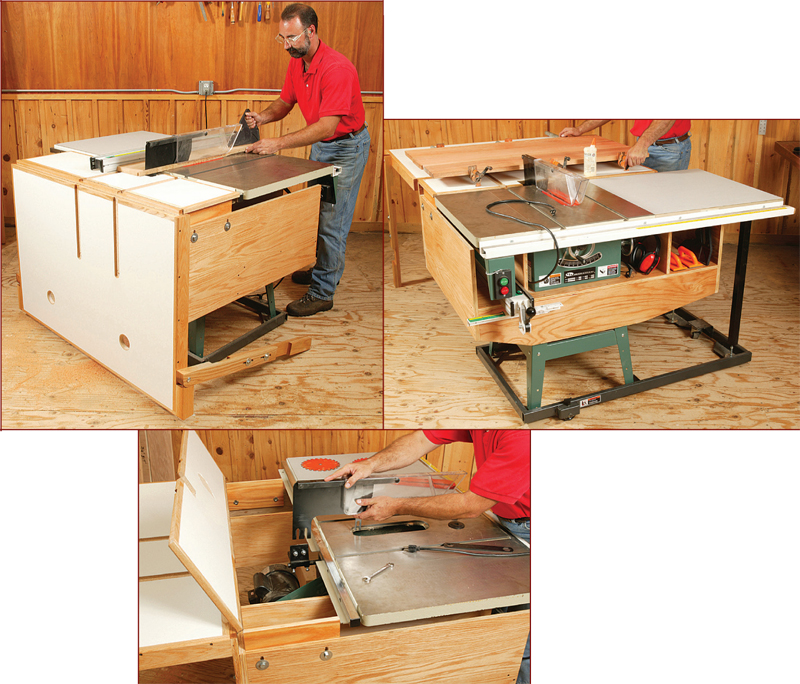 Table saw outfeed table woodworking plans with brilliant innovation excellent tablesaw outfeed table woodworking plan from wood magazine keyboard keysfo Images
