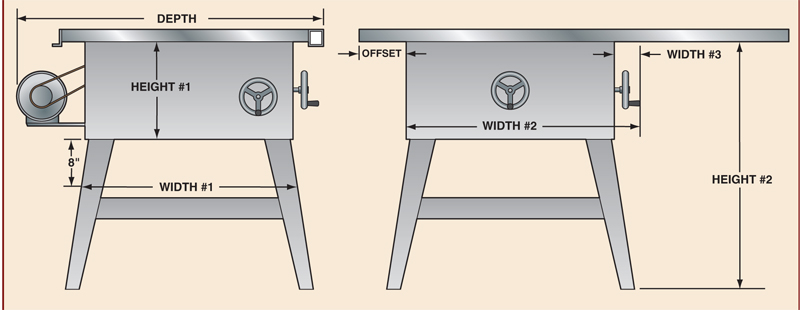 Band Saw Outfeed Table Plans