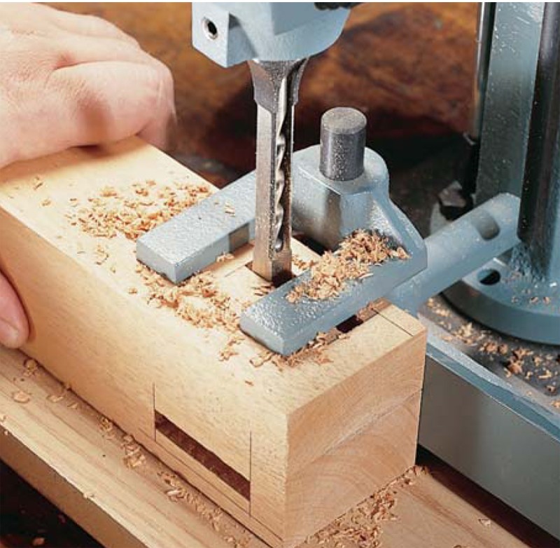 how to use a mortise machine