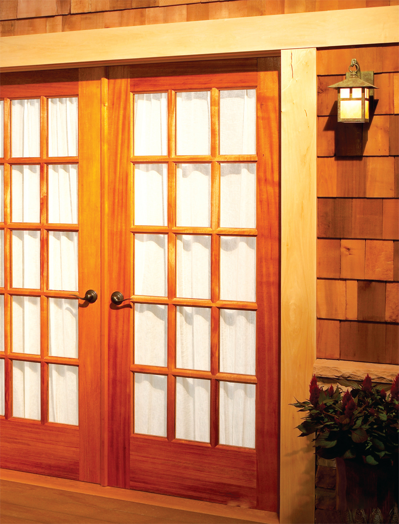 Build your own french doors popular woodworking magazine for Door in french