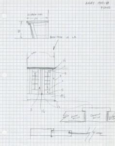 Design development on graph paper